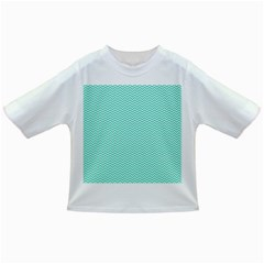 Tiffany Aqua Blue Chevron Zig Zag Infant/toddler T-shirts by PodArtist