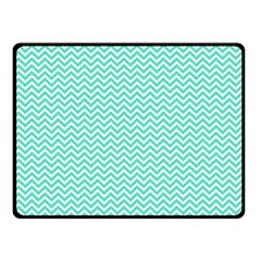 Tiffany Aqua Blue Chevron Zig Zag Fleece Blanket (small)
