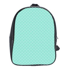 Tiffany Aqua Blue Chevron Zig Zag School Bag (xl) by PodArtist