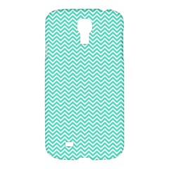 Tiffany Aqua Blue Chevron Zig Zag Samsung Galaxy S4 I9500/i9505 Hardshell Case by PodArtist