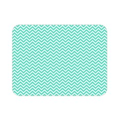 Tiffany Aqua Blue Chevron Zig Zag Double Sided Flano Blanket (mini)  by PodArtist
