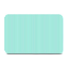 Classy Tiffany Aqua Blue Sailor Stripes Plate Mats by PodArtist