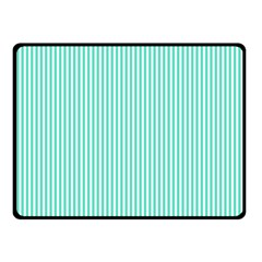 Classy Tiffany Aqua Blue Sailor Stripes Fleece Blanket (small) by PodArtist