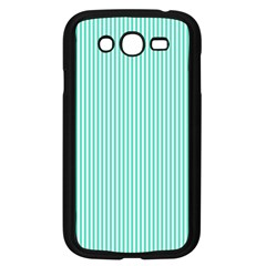 Classy Tiffany Aqua Blue Sailor Stripes Samsung Galaxy Grand Duos I9082 Case (black) by PodArtist