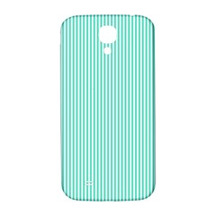 Classy Tiffany Aqua Blue Sailor Stripes Samsung Galaxy S4 I9500/i9505  Hardshell Back Case by PodArtist