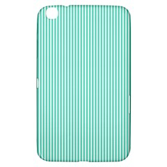 Classy Tiffany Aqua Blue Sailor Stripes Samsung Galaxy Tab 3 (8 ) T3100 Hardshell Case  by PodArtist