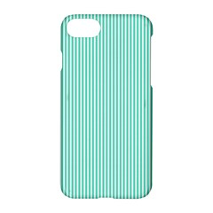 Classy Tiffany Aqua Blue Sailor Stripes Apple Iphone 7 Hardshell Case by PodArtist