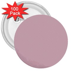 Baby Pink Stitched And Quilted Pattern 3  Buttons (100 Pack)  by PodArtist
