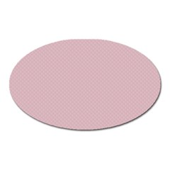 Baby Pink Stitched And Quilted Pattern Oval Magnet by PodArtist