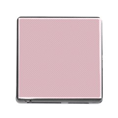Baby Pink Stitched And Quilted Pattern Memory Card Reader (square) by PodArtist