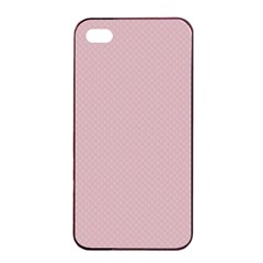 Baby Pink Stitched And Quilted Pattern Apple Iphone 4/4s Seamless Case (black) by PodArtist