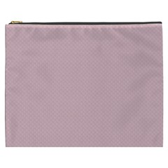 Baby Pink Stitched And Quilted Pattern Cosmetic Bag (xxxl)  by PodArtist