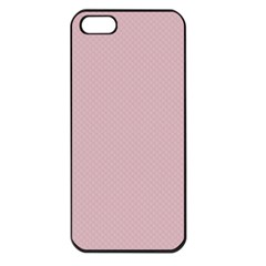Baby Pink Stitched And Quilted Pattern Apple Iphone 5 Seamless Case (black) by PodArtist