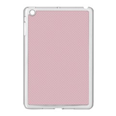 Baby Pink Stitched And Quilted Pattern Apple Ipad Mini Case (white) by PodArtist