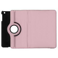 Baby Pink Stitched And Quilted Pattern Apple Ipad Mini Flip 360 Case by PodArtist