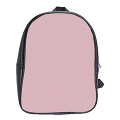 Baby Pink Stitched And Quilted Pattern School Bag (xl) by PodArtist