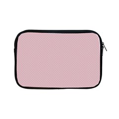 Baby Pink Stitched And Quilted Pattern Apple Ipad Mini Zipper Cases by PodArtist