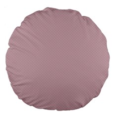Baby Pink Stitched And Quilted Pattern Large 18  Premium Flano Round Cushions by PodArtist