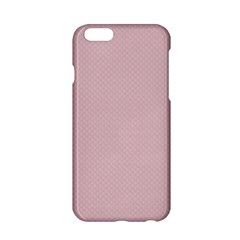 Baby Pink Stitched And Quilted Pattern Apple Iphone 6/6s Hardshell Case by PodArtist