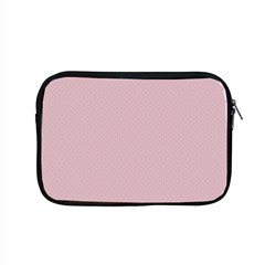 Baby Pink Stitched And Quilted Pattern Apple Macbook Pro 15  Zipper Case by PodArtist