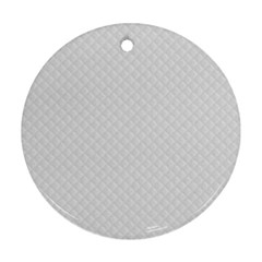 Bright White Stitched And Quilted Pattern Ornament (round) by PodArtist
