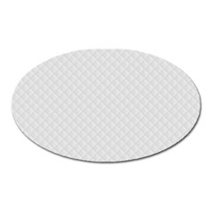 Bright White Stitched And Quilted Pattern Oval Magnet by PodArtist