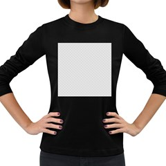 Bright White Stitched And Quilted Pattern Women s Long Sleeve Dark T Shirts by PodArtist