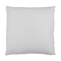 Bright White Stitched And Quilted Pattern Standard Cushion Case (one Side) by PodArtist