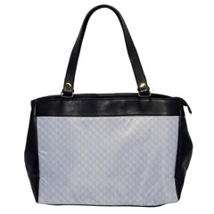 Bright White Stitched And Quilted Pattern Office Handbags by PodArtist