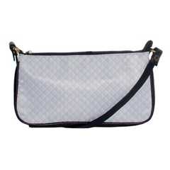 Bright White Stitched And Quilted Pattern Shoulder Clutch Bags by PodArtist