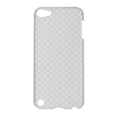 Bright White Stitched And Quilted Pattern Apple Ipod Touch 5 Hardshell Case by PodArtist