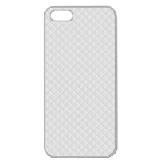 Bright White Stitched And Quilted Pattern Apple Seamless Iphone 5 Case (clear) by PodArtist