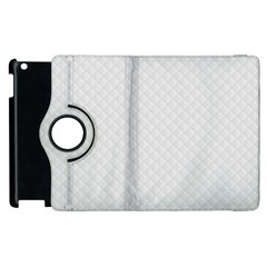 Bright White Stitched And Quilted Pattern Apple Ipad 2 Flip 360 Case by PodArtist