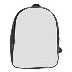 Bright White Stitched And Quilted Pattern School Bag (xl) by PodArtist