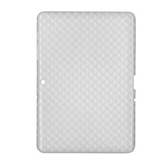 Bright White Stitched And Quilted Pattern Samsung Galaxy Tab 2 (10 1 ) P5100 Hardshell Case  by PodArtist