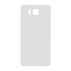 Bright White Stitched And Quilted Pattern Samsung Galaxy Alpha Hardshell Back Case by PodArtist