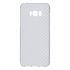 Bright White Stitched And Quilted Pattern Samsung Galaxy S8 Plus Hardshell Case