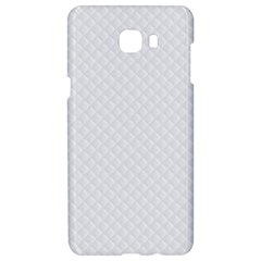 Bright White Stitched And Quilted Pattern Samsung C9 Pro Hardshell Case  by PodArtist