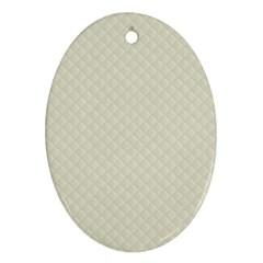 Rich Cream Stitched And Quilted Pattern Ornament (oval) by PodArtist