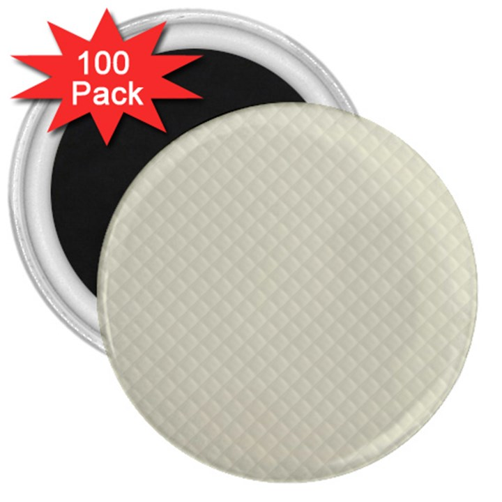 Rich Cream Stitched and Quilted Pattern 3  Magnets (100 pack)