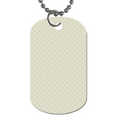 Rich Cream Stitched And Quilted Pattern Dog Tag (two Sides) by PodArtist
