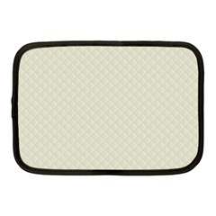 Rich Cream Stitched And Quilted Pattern Netbook Case (medium)  by PodArtist