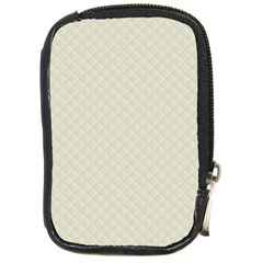 Rich Cream Stitched And Quilted Pattern Compact Camera Cases by PodArtist