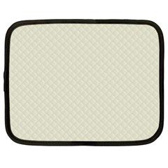 Rich Cream Stitched And Quilted Pattern Netbook Case (xl)  by PodArtist