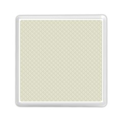 Rich Cream Stitched And Quilted Pattern Memory Card Reader (square)  by PodArtist