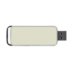 Rich Cream Stitched And Quilted Pattern Portable Usb Flash (one Side) by PodArtist