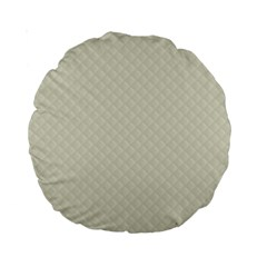 Rich Cream Stitched And Quilted Pattern Standard 15  Premium Round Cushions by PodArtist