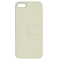 Rich Cream Stitched And Quilted Pattern Apple Iphone 5 Hardshell Case With Stand by PodArtist