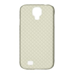Rich Cream Stitched And Quilted Pattern Samsung Galaxy S4 Classic Hardshell Case (pc+silicone) by PodArtist