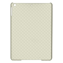 Rich Cream Stitched And Quilted Pattern Ipad Air Hardshell Cases by PodArtist